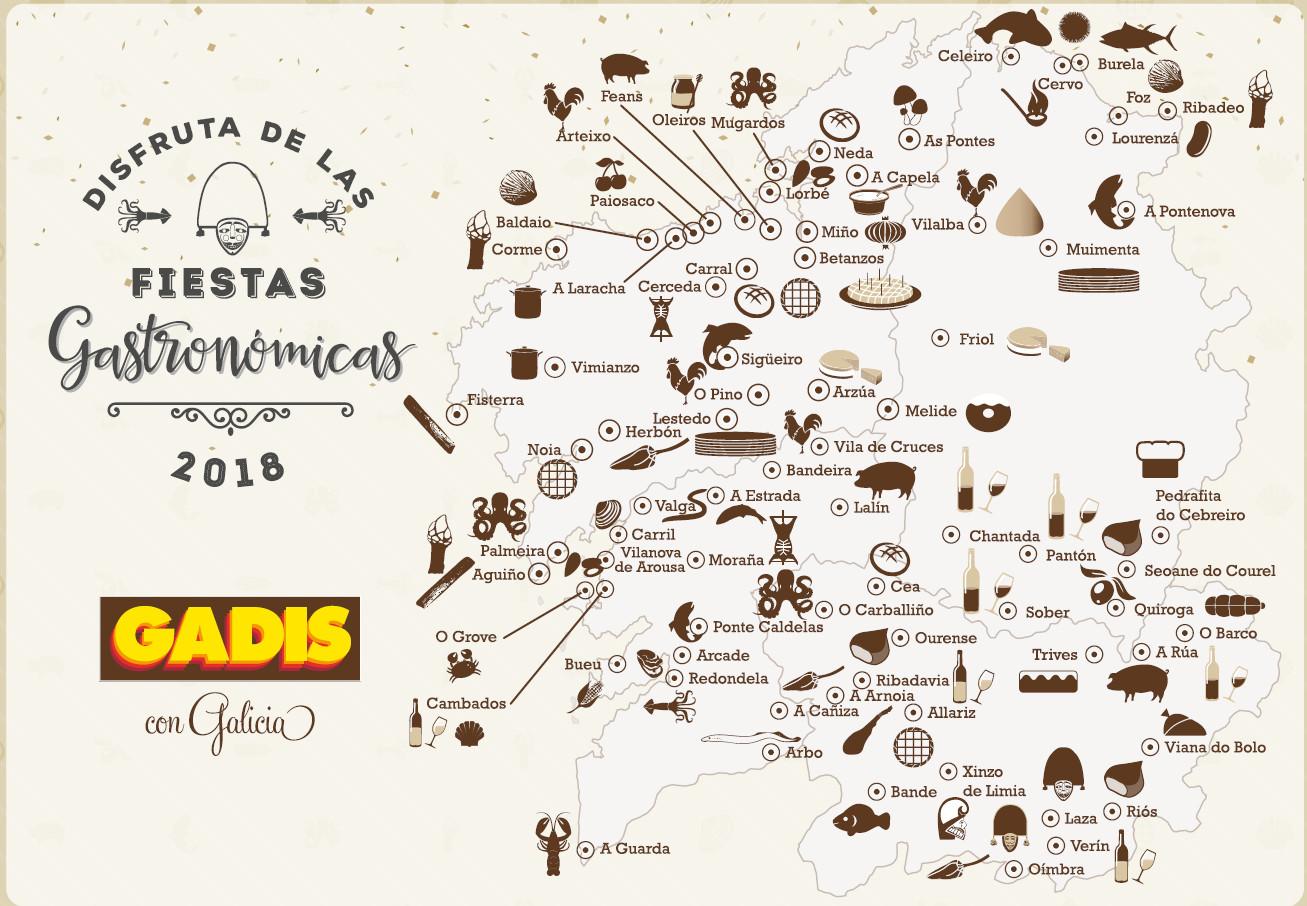 Disfruta de las fiestas gastronómicas de Galicia