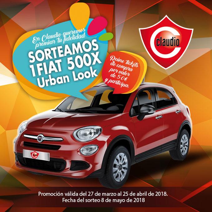 ¡En Claudio, sorteamos un Fiat 500 X!