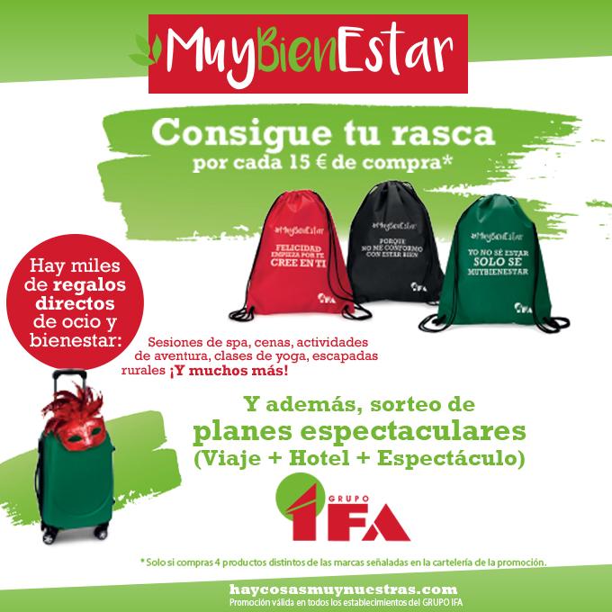 Promoción Ifa #MuyBienEstar  ¡Consigue regalos directos de ocio y bienestar!