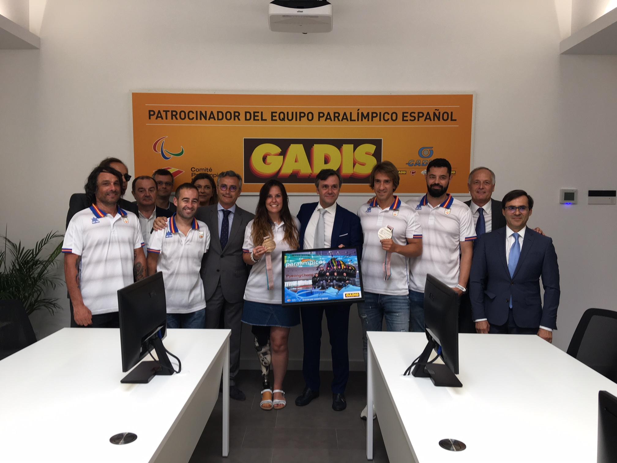 GADISA RECIBE LA VISITA DE AGRADECIMIENTO DEL EQUIPO PARALÍMPICO ESPAÑOL POR SU FIRME APOYO DURANTE LA ÚLTIMA DÉCADA