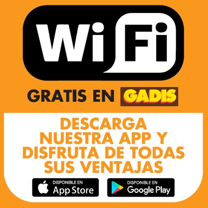 Ahora ya puedes disfrutar de wifi gratuito en Gadis, descárgate nuestra app, y conéctate.