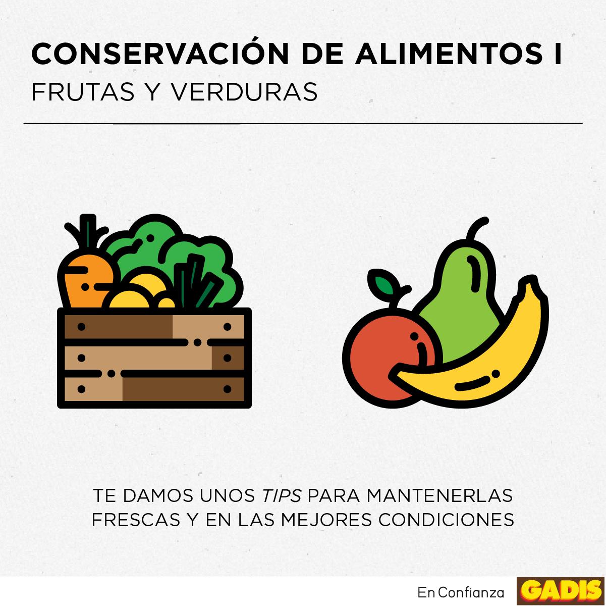 ¡Mantén frescas las frutas y verduras!