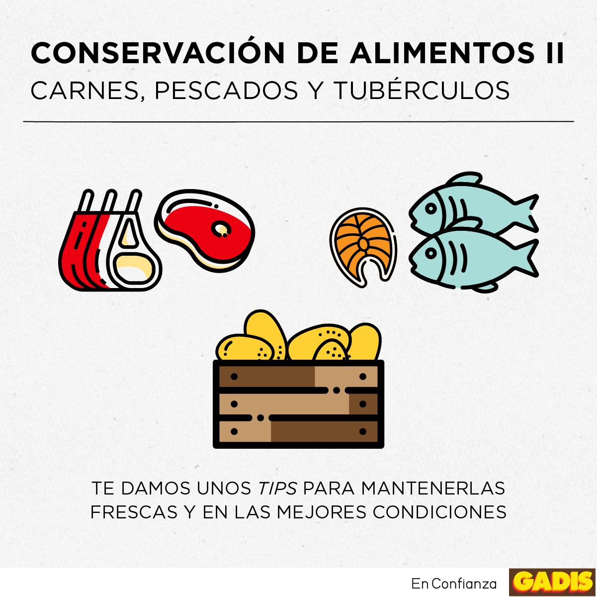 ¡Aprovecha al máximo tu compra con los consejos de GADIS! ¡Es el turno de las carnes, pescados y tubérculos!