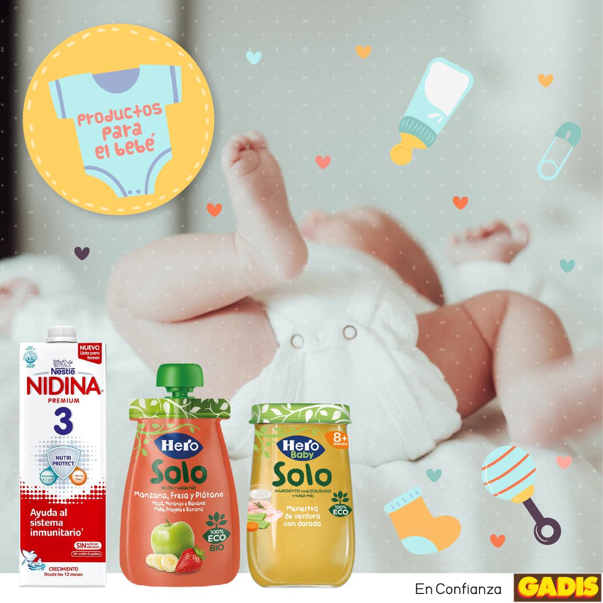Elige lo mejor: alimentos para el bebé que puedes encontrar en Gadis