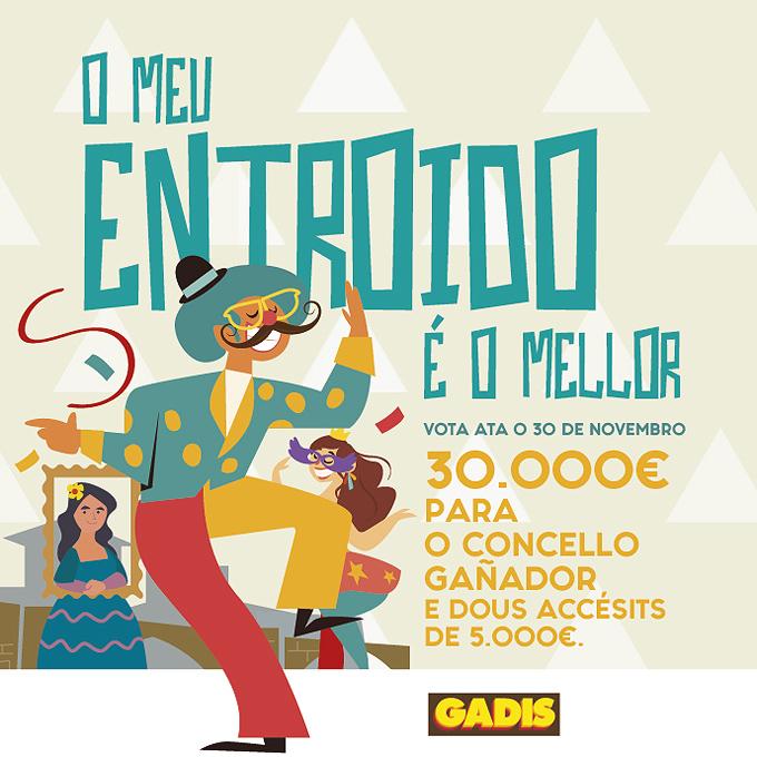 GADIS PREMIA LA SINGULARIDAD DE LOS MEJORES CARNAVALES DE GALICIA CON 40.000 EUROS