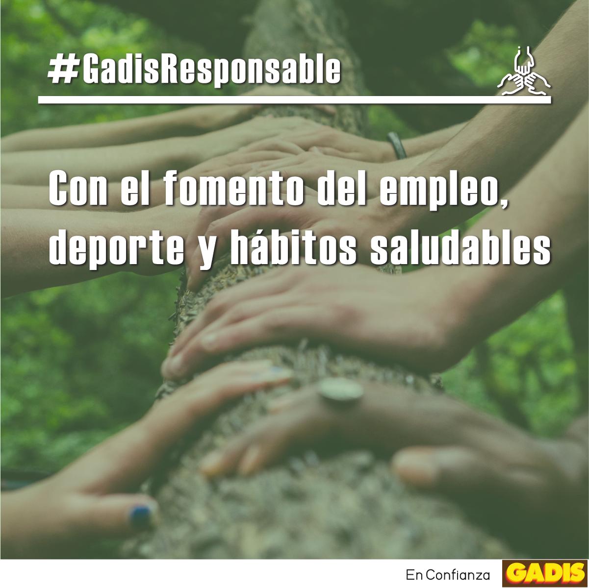 #GadisResponsable: con el fomento del empleo, deporte y hábitos saludables