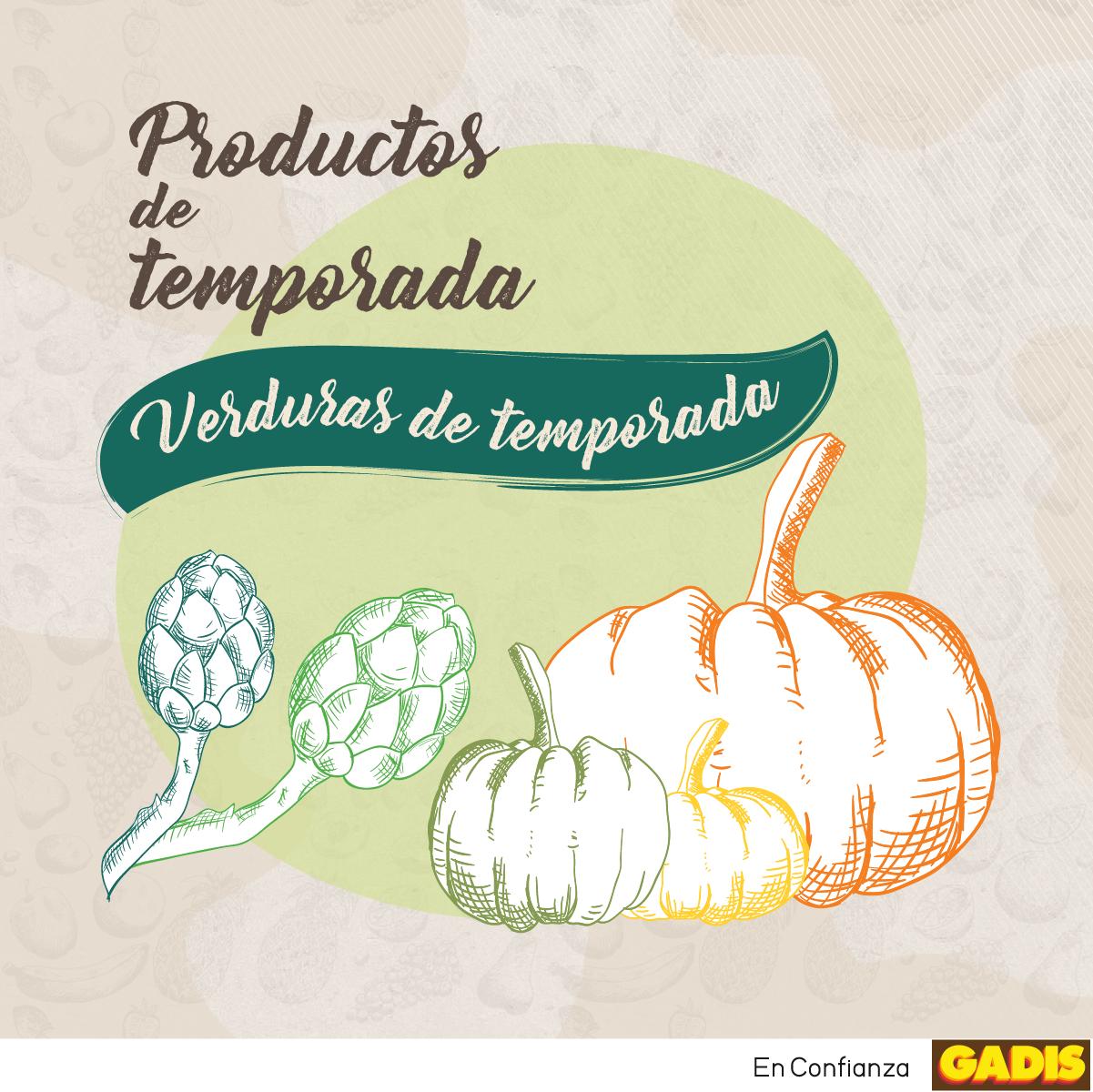 Â¡Descubre las verduras de temporada!