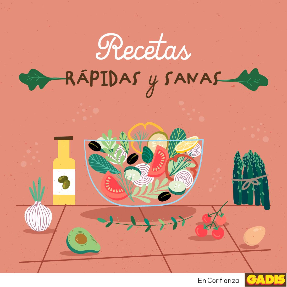 RECETAS RÁPIDAS Y SANAS – ¡A cocinar!