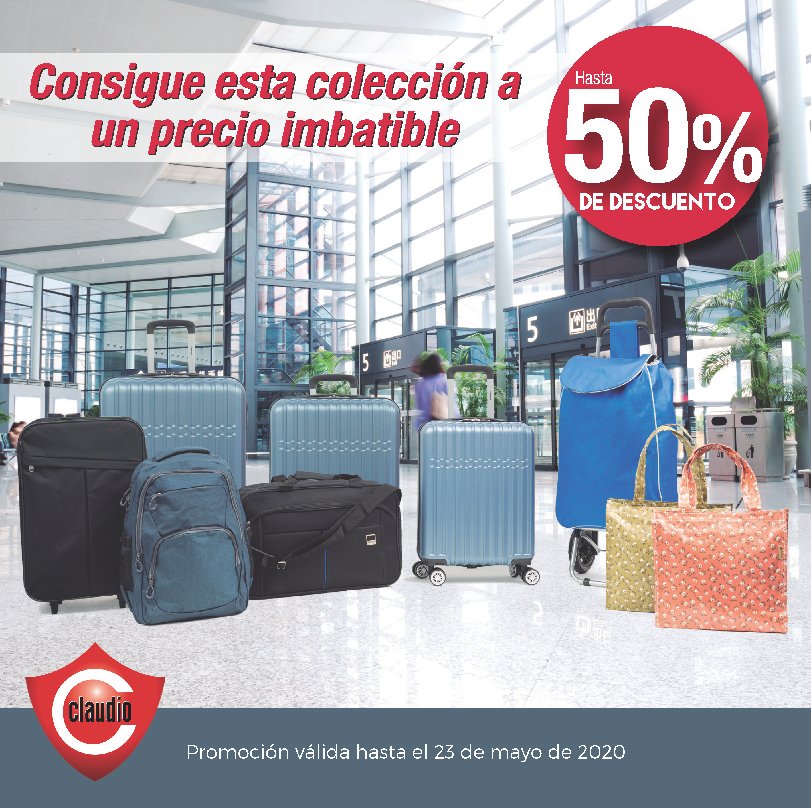 ¡Consigue en Claudio esta colección de maletas!
