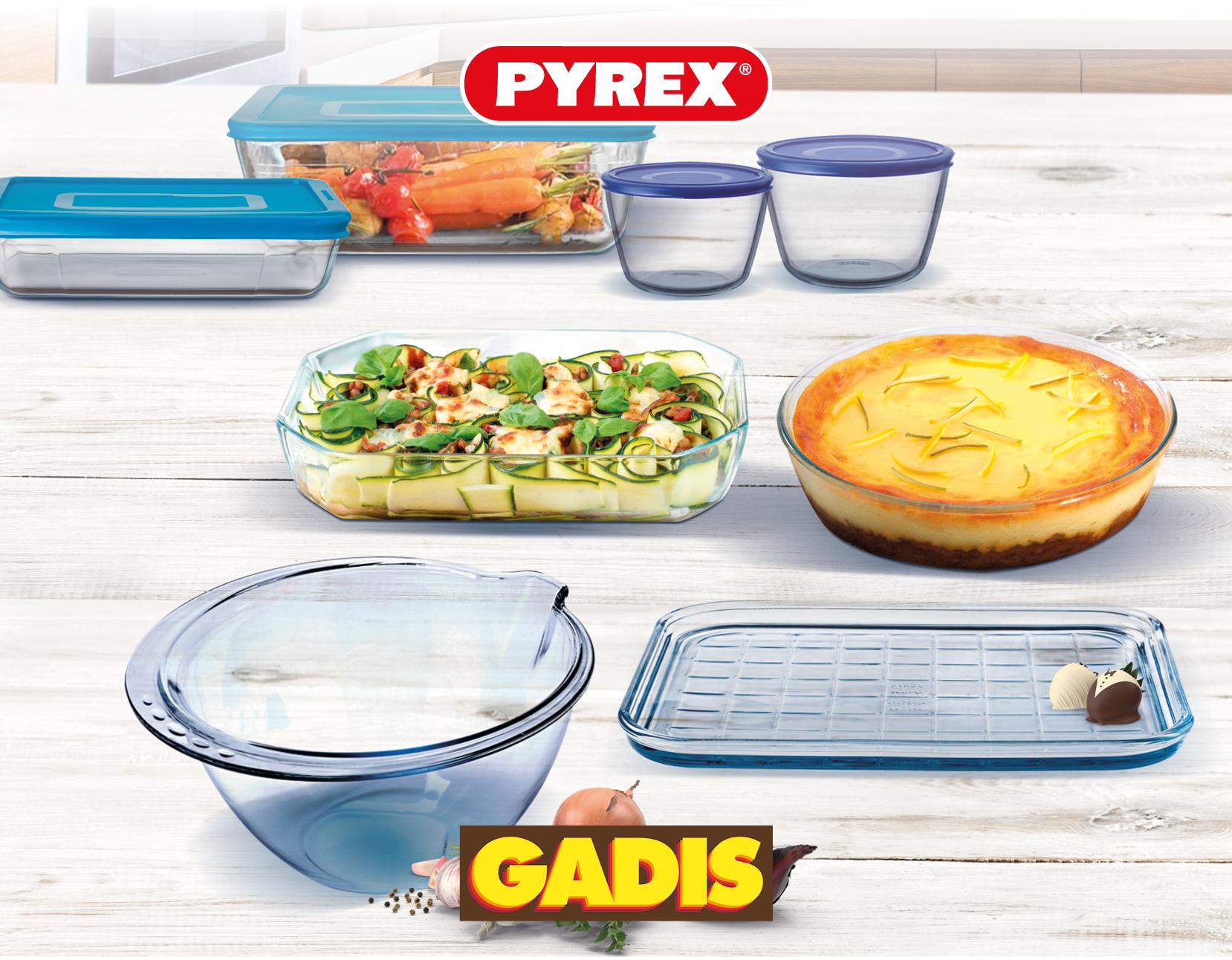 Â¡Consigue con Gadis estos recipientes Pyrex!
