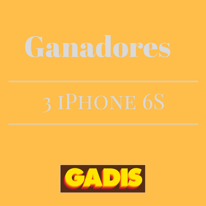 GANADORES 3 iPHONE 6 S ROSE GOLD