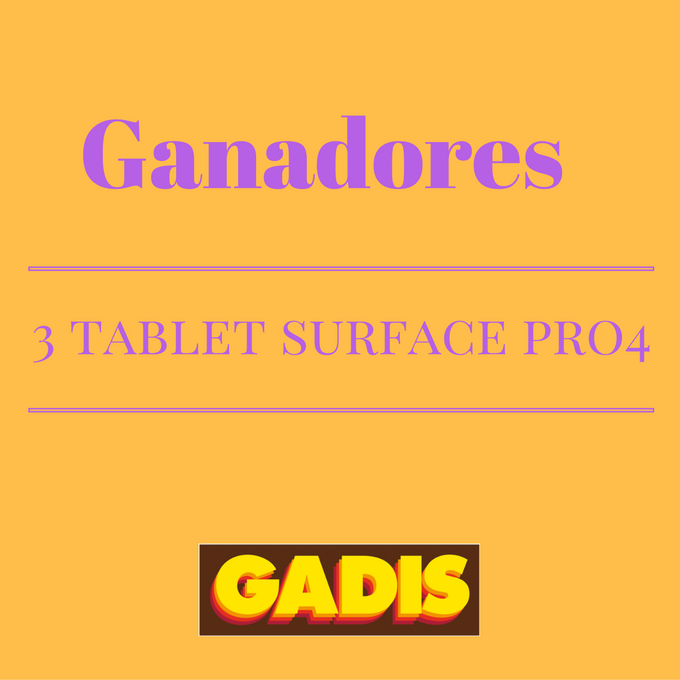 GANADORES 3 TABLETS SURFACE PRO4
