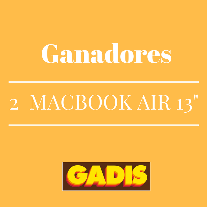 GANADORES 2 MAC BOOK AIR 13""